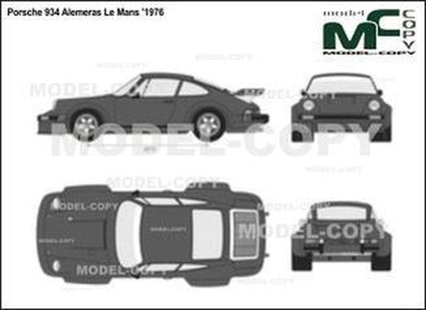 Porsche 934 Alemeras Le Mans '1976 - 2D drawing (blueprints)