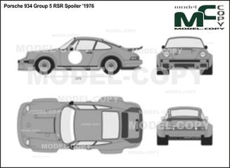 Porsche 934 Group 5 RSR Spoiler '1976 - 2D drawing (blueprints)