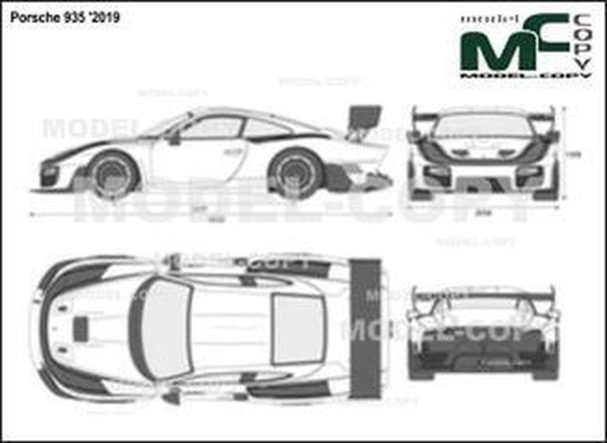 Porsche 935 '2019 - 2D drawing (blueprints)