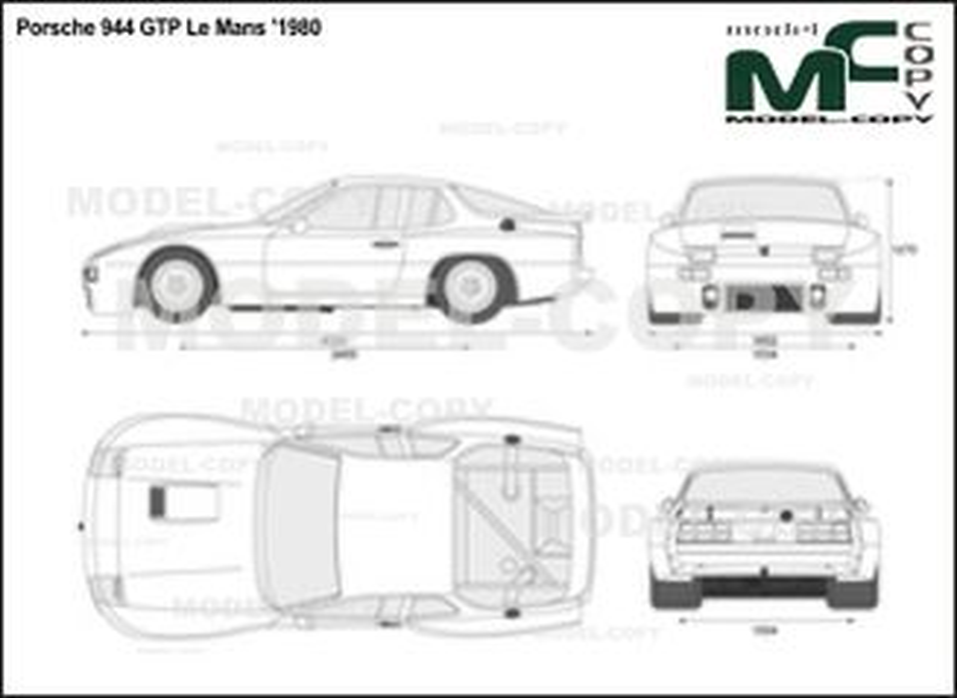 Porsche 944 GTP Le Mans '1980 - 2D-чертеж