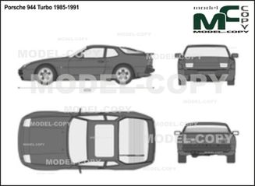 Porsche 944 Turbo 1985-1991 - 2D drawing (blueprints)