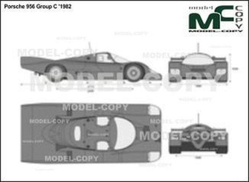 Porsche 956 Group C '1982 - 2D drawing (blueprints)
