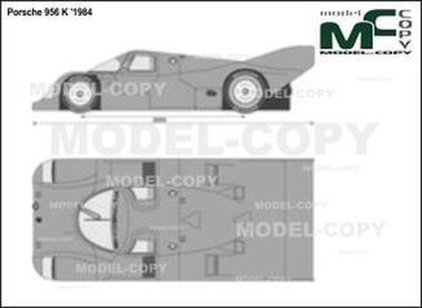 Porsche 956 K '1984 - 2D drawing (blueprints)