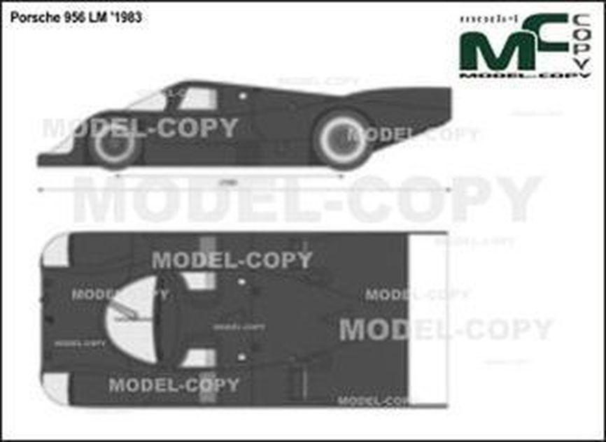 Porsche 956 LM '1983 - 2D-чертеж