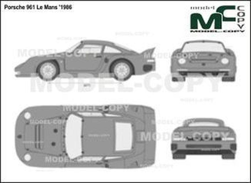 Porsche 961 Le Mans '1986 - 2D図面
