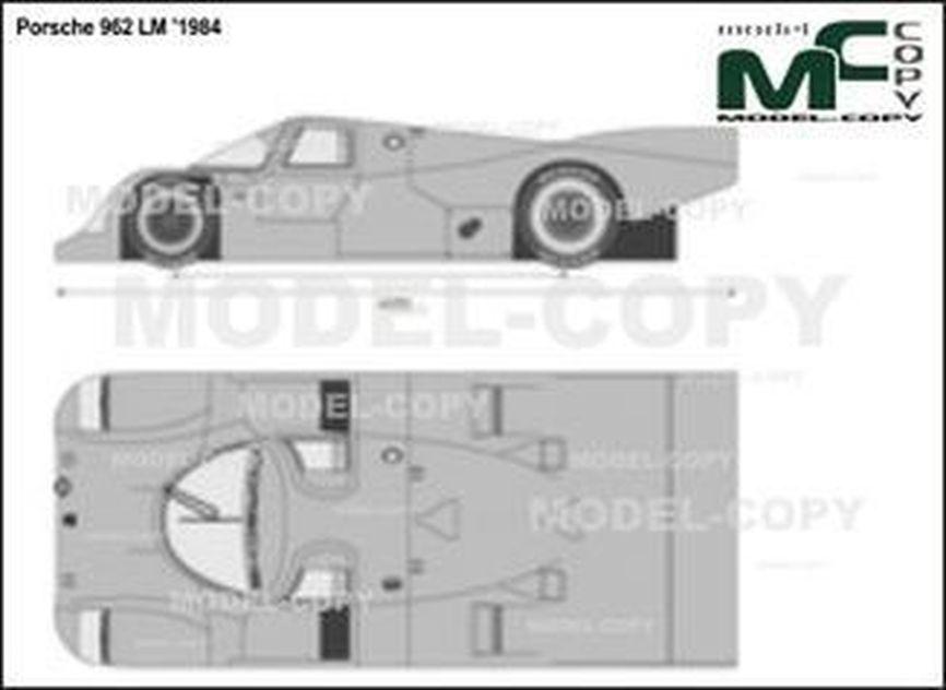 Porsche 962 LM '1984 - 2D tegning