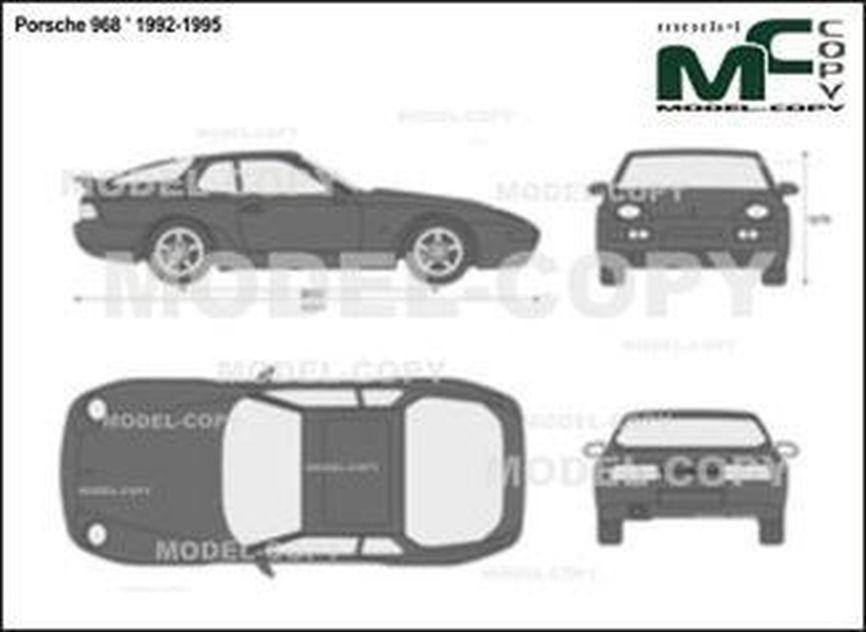 Porsche 968 ' 1992-1995 - 2D図面