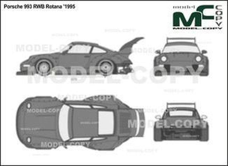 Porsche 993 RWB Rotana '1995 - 2D drawing (blueprints)