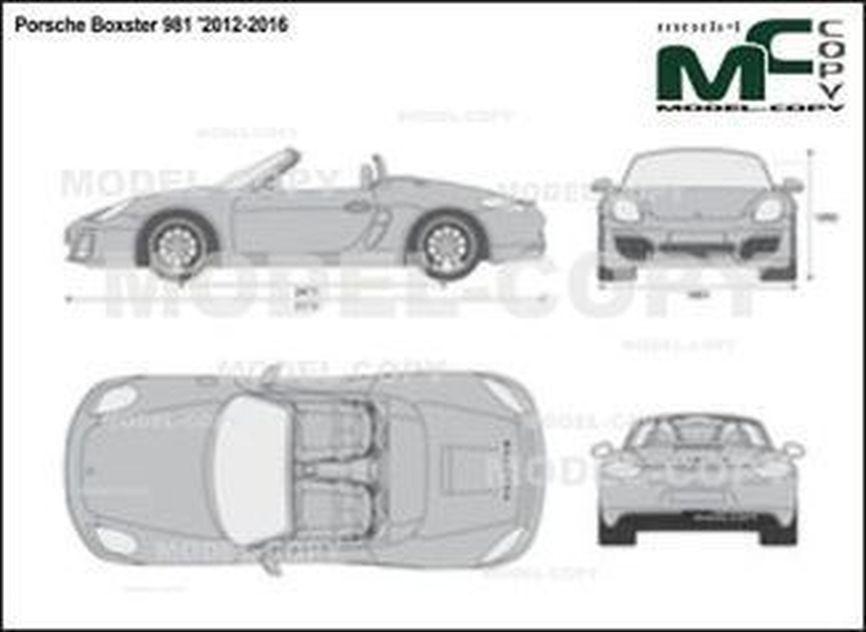 Porsche Boxster 981 '2012-2016 - 2D図面