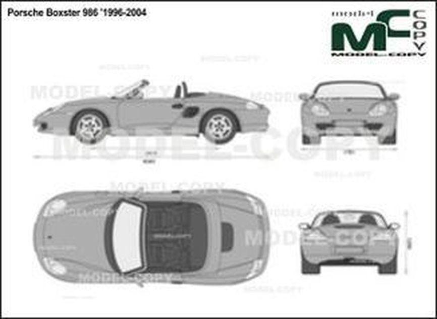 Porsche Boxster 986 '1996-2004 - 2D-чертеж