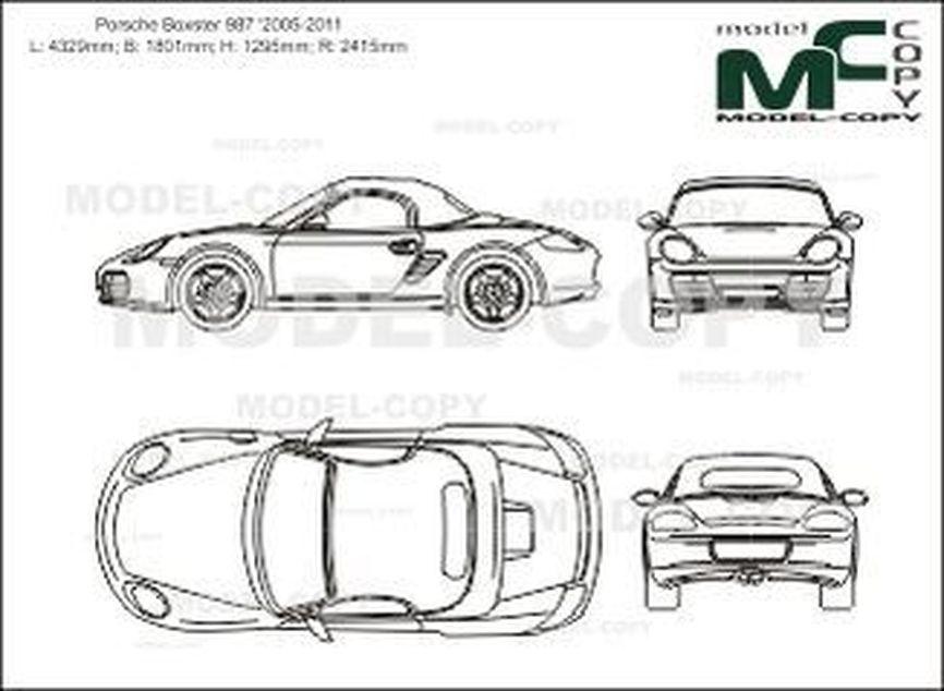 Porsche Boxster 987 '2005-2011 - 2D図面