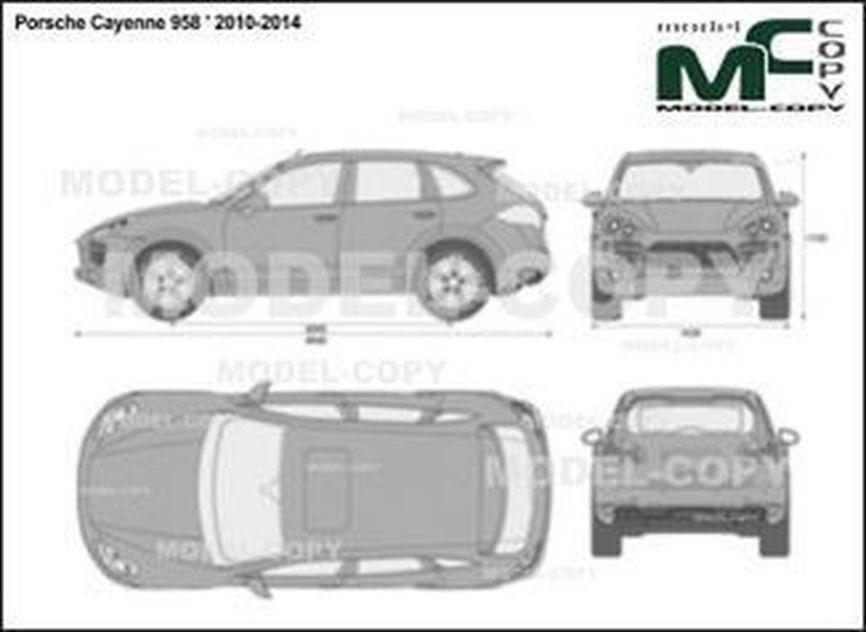 Porsche Cayenne 958 ' 2010-2014 - 2D drawing (blueprints)