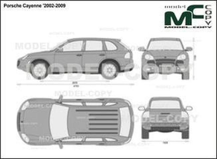 Porsche Cayenne '2002-2009 - 2D drawing (blueprints)