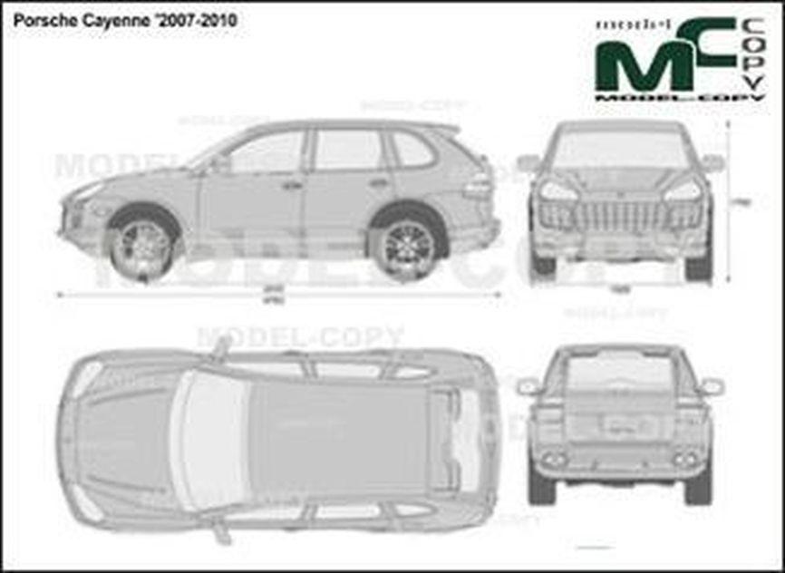 Porsche Cayenne '2007-2010 - 2D drawing (blueprints)