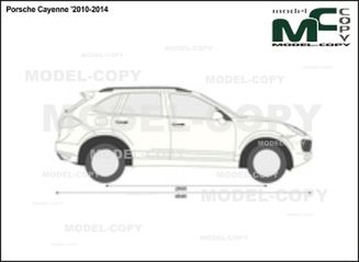 Porsche Cayenne '2010-2014 - 2D drawing (blueprints)