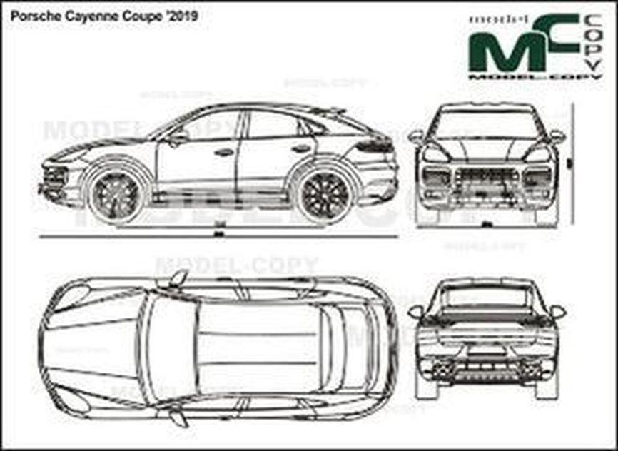 Porsche Cayenne Coupe '2019 - 2D drawing (blueprints)