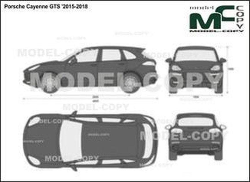 Porsche Cayenne GTS '2015-2018 - 2D drawing (blueprints)