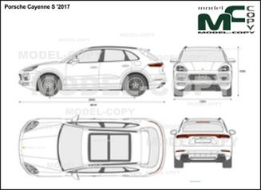 Porsche Cayenne S '2017 - 2D図面
