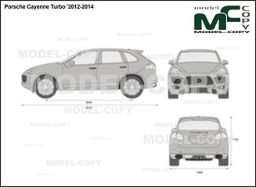Porsche Cayenne Turbo '2012-2014 - 2D drawing (blueprints)