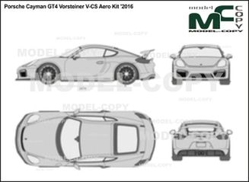 Porsche Cayman GT4 Vorsteiner V-CS Aero Kit '2016 - 2D drawing (blueprints)
