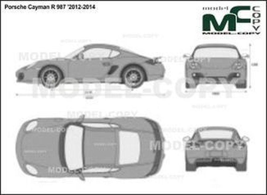 Porsche Cayman R 987 '2012-2014 - 2D-чертеж