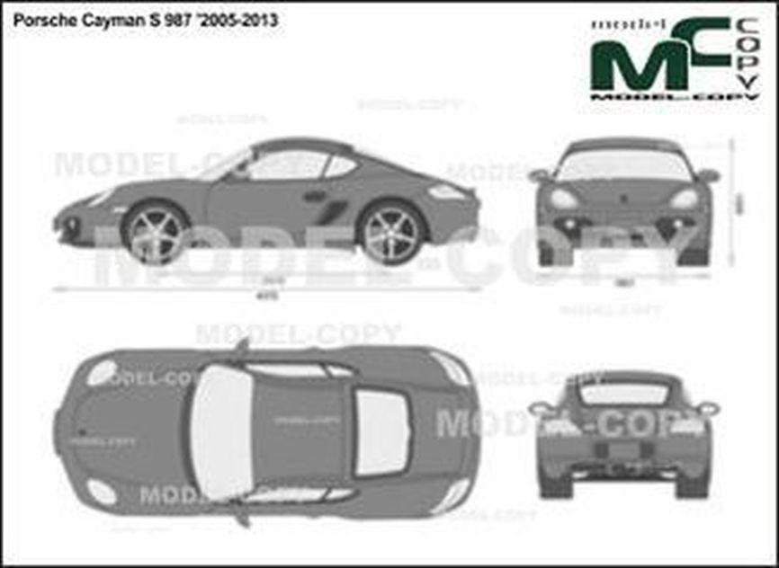 Porsche Cayman S 987 '2005-2013 - 2D drawing (blueprints)