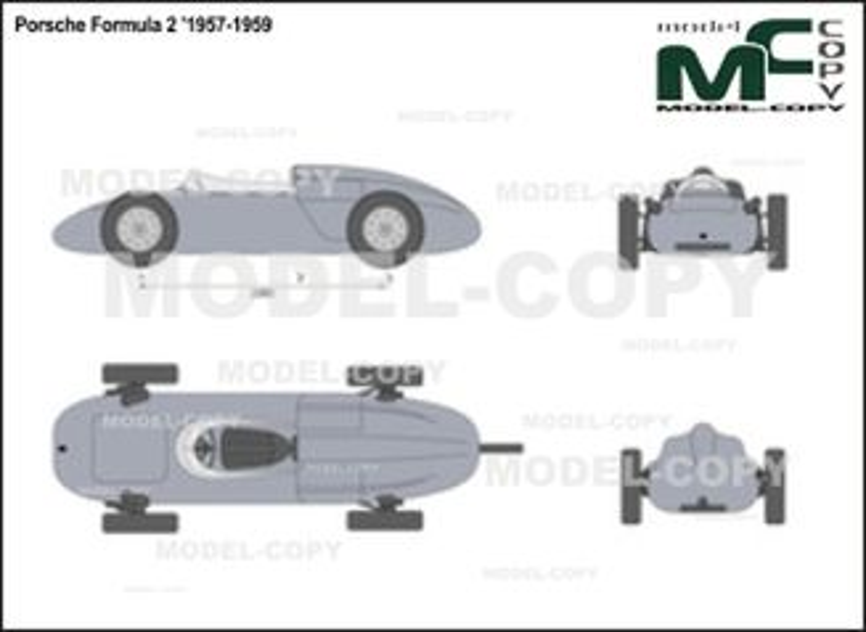 Porsche Formula 2 '1957-1959 - 2D図面