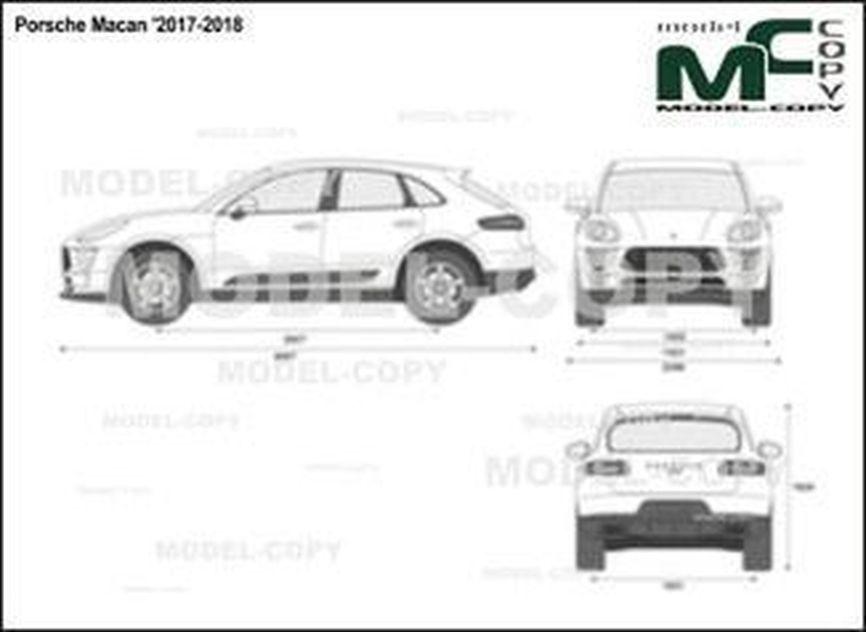 Porsche Macan '2017-2018 - 2D drawing (blueprints)