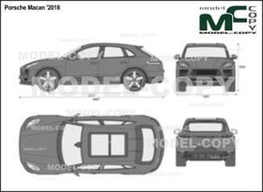 Porsche Macan '2018 - 2D tekening