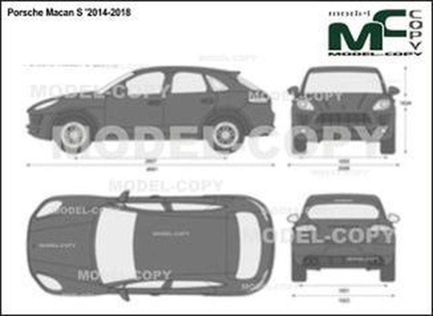 Porsche Macan S '2014-2018 - 2D図面