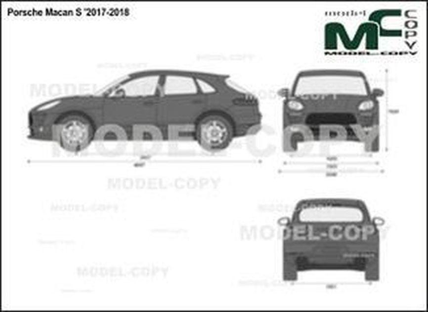 Porsche Macan S '2017-2018 - 2D drawing (blueprints)