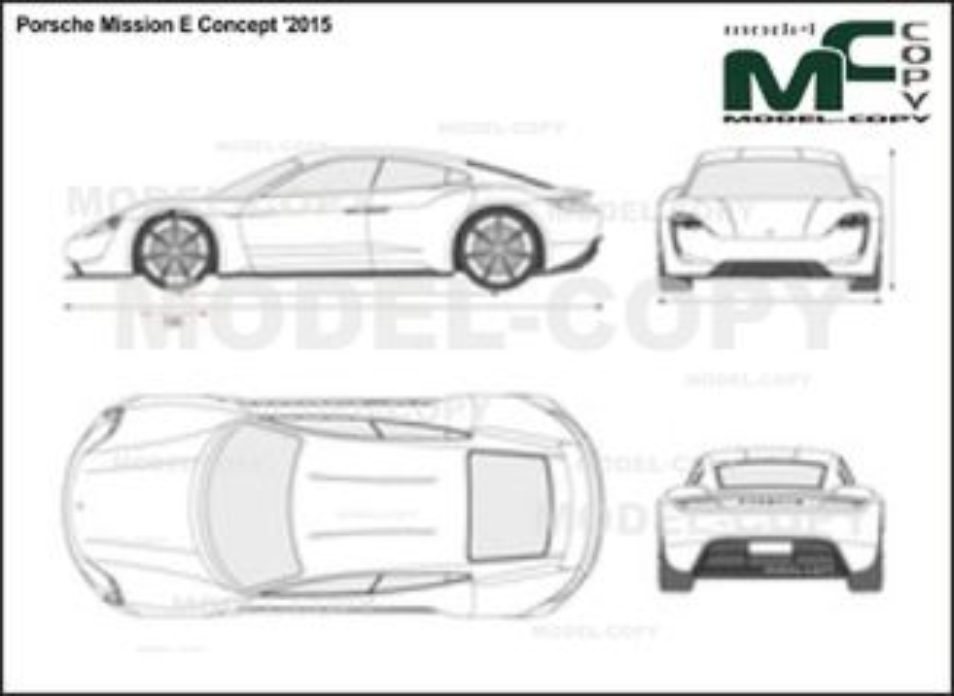 Porsche Mission E Concept '2015 - 2D-чертеж