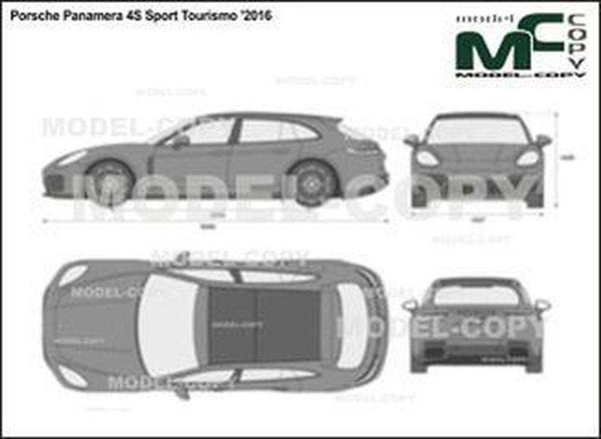 Porsche Panamera 4S Sport Tourismo '2016 - 2D図面