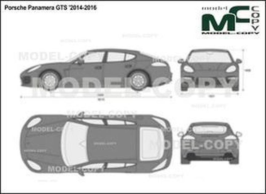 Porsche Panamera GTS '2014-2016 - 2D drawing (blueprints)