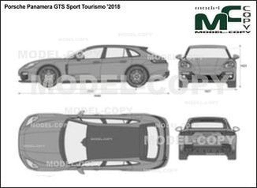 Porsche Panamera GTS Sport Tourismo '2018 - 2D図面