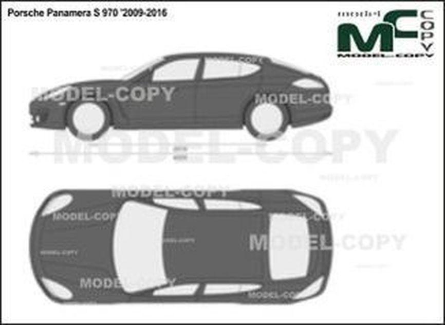 Porsche Panamera S 970 '2009-2016 - 2 डी ड्राइंग