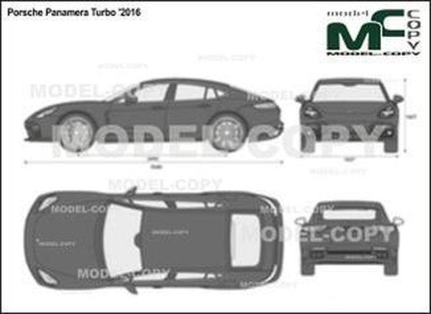 Porsche Panamera Turbo '2016 - 2D図面