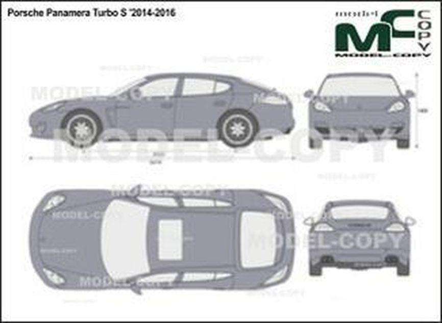 Porsche Panamera Turbo S '2014-2016 - 2D drawing (blueprints)