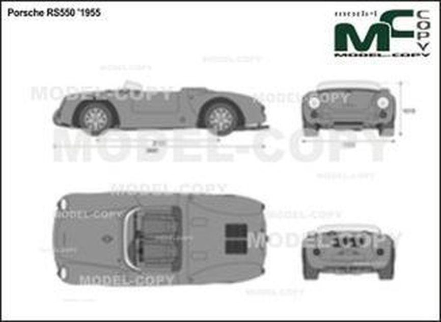 Porsche RS550 '1955 - 2D図面
