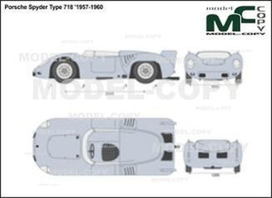 Porsche Spyder Type 718 '1957-1960 - 2D drawing (blueprints)
