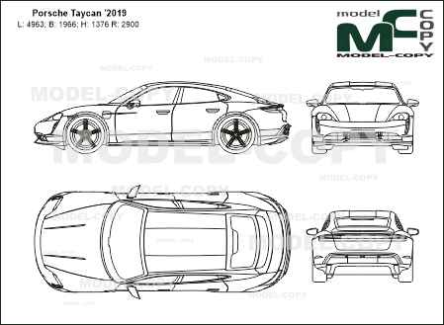 Porsche Taycan '2019 - 2D図面