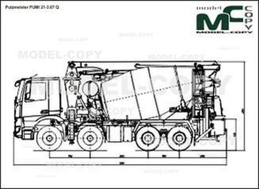 Putzmeister PUMI 21-3.67 Q - 2D drawing (blueprints)