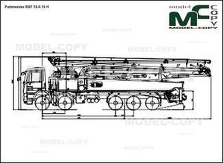 Putzmeister BSF 53-6.16 H - 2D drawing (blueprints)