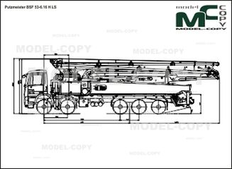 Putzmeister BSF 53-6.16 H LS - 2D drawing (blueprints)