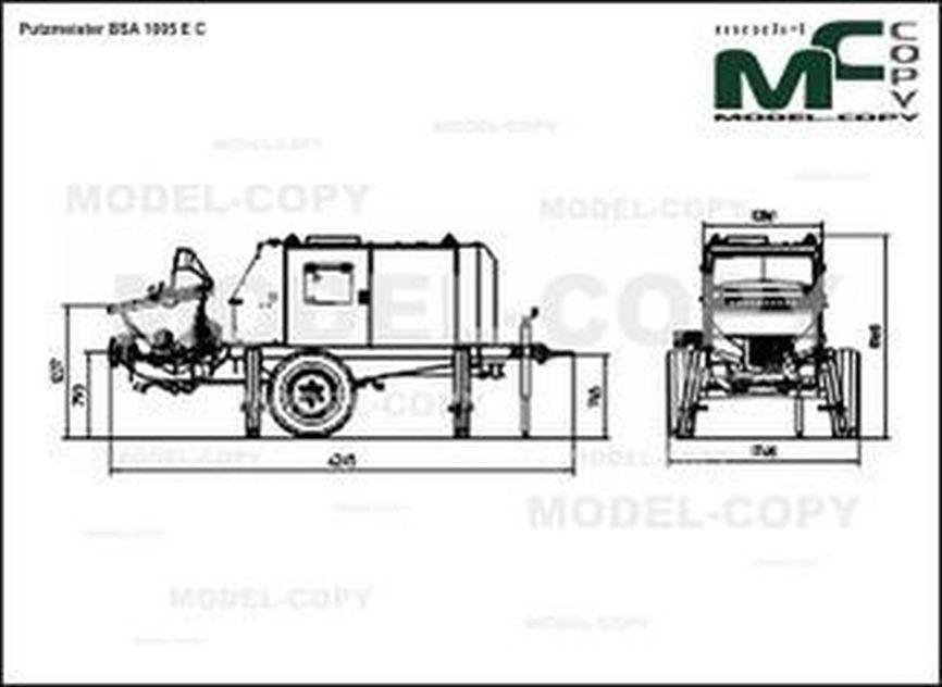 Putzmeister BSA 1005 E C - 2D drawing (blueprints)