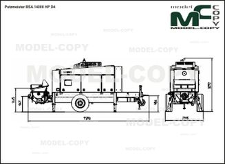 Putzmeister BSA 14000 HP D4 - 2D drawing (blueprints)