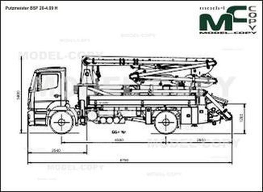 Putzmeister BSF 20-4.09 H - 2D drawing (blueprints)