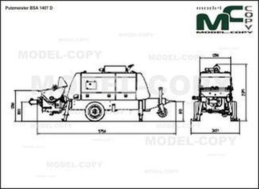 Putzmeister BSA 1407 D - 2D drawing (blueprints)