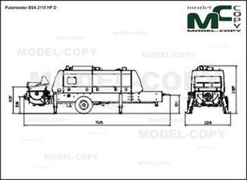 Putzmeister BSA 2110 HP D - drawing