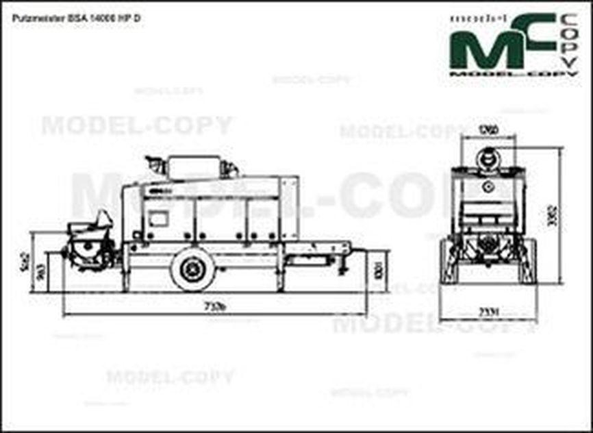 Putzmeister BSA 14000 HP D - drawing